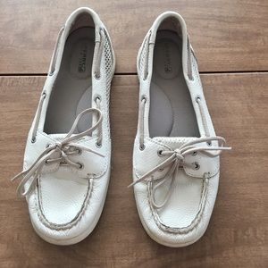 White Angelfish Sperry Top-Sider's - size 8.5